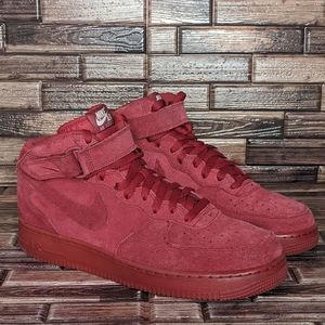 Nike Air Force 1 Mid Red October - Men's 11.5